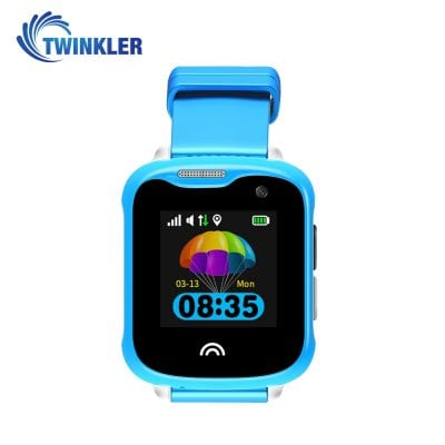 Ceas Smartwatch Pentru Copii Twinkler TKY-D7 cu Functie Telefon, Localizare GPS, Camera, Pedometru, IP54 – Albastru, Cartela SIM Cadou