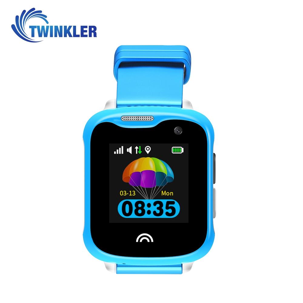 Ceas Smartwatch Pentru Copii Twinkler TKY-D7 cu Functie Telefon, Localizare GPS, Camera, Pedometru, IP54 – Albastru, Cartela SIM Cadou imagine