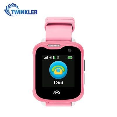 Ceas Smartwatch Pentru Copii Twinkler TKY-D7 cu Functie Telefon, Localizare GPS, Camera, Pedometru, IP54 – Roz, Cartela SIM Cadou