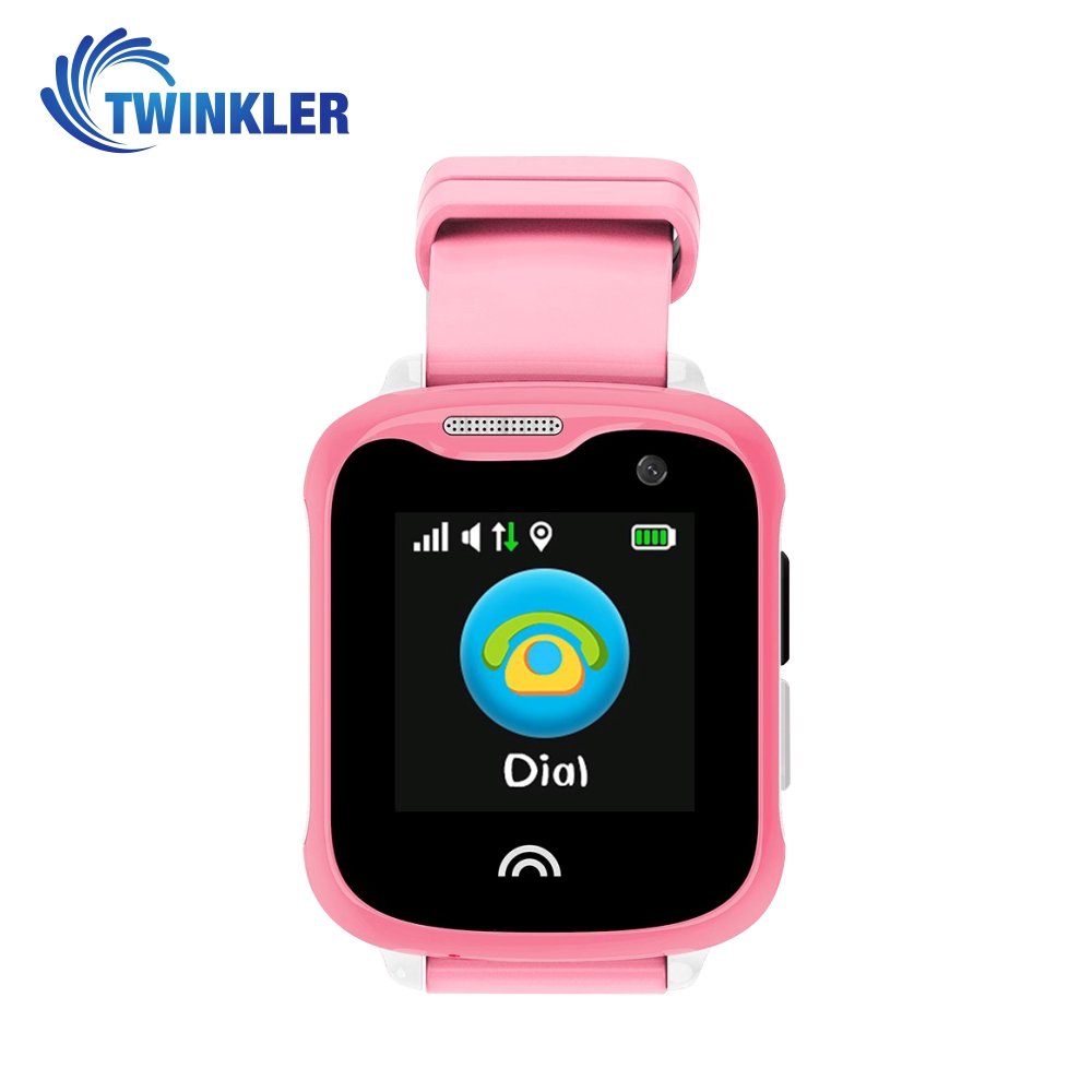 Ceas Smartwatch Pentru Copii Twinkler TKY-D7 cu Functie Telefon, Localizare GPS, Camera, Pedometru, IP54 – Roz, Cartela SIM Cadou imagine
