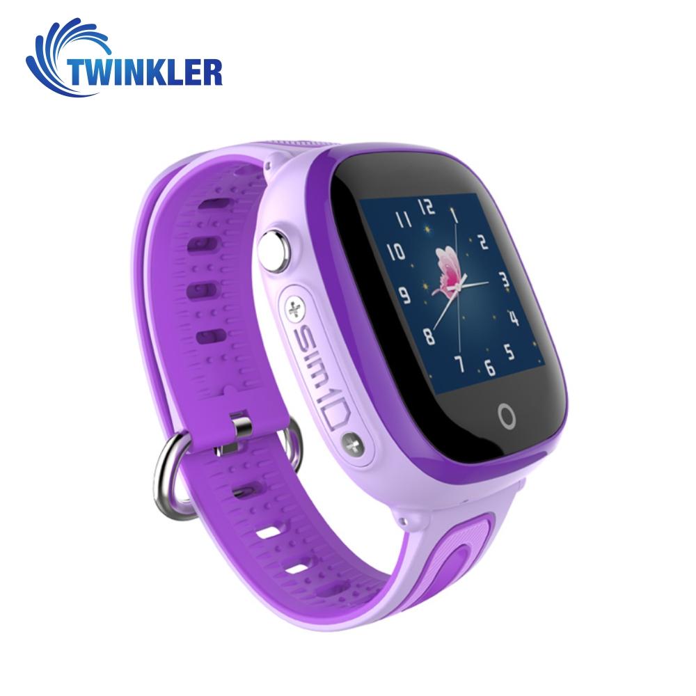 Ceas Smartwatch Pentru Copii Twinkler TKY-DF31 cu Functie Telefon, Localizare GPS, Camera, Pedometru, SOS, IP54 – Mov, Cartela SIM Cadou imagine