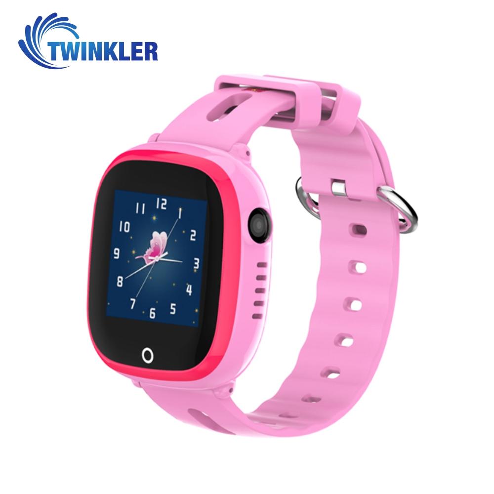 Ceas Smartwatch Pentru Copii Twinkler TKY-DF31 cu Functie Telefon, Localizare GPS, Camera, Pedometru, SOS, IP54 – Roz, Cartela SIM Cadou imagine