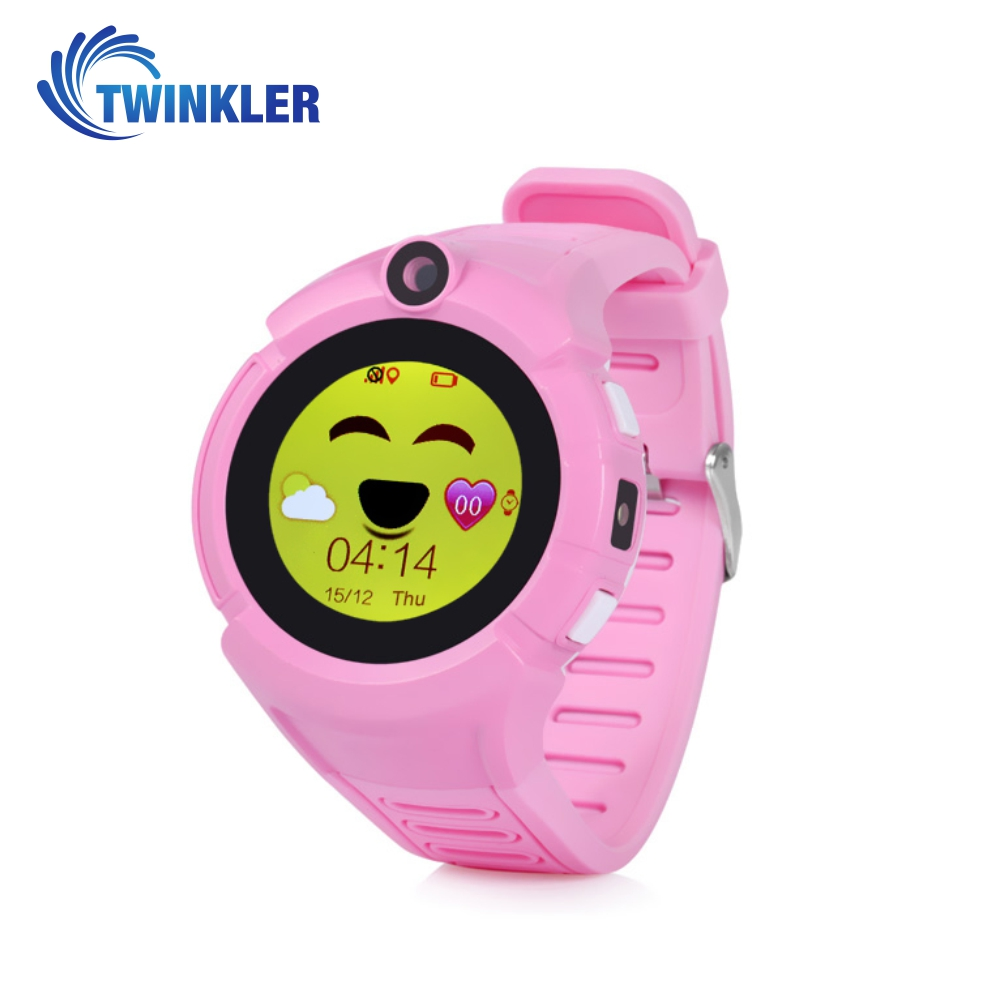 Ceas Smartwatch Pentru Copii Twinkler TKY-G610 cu Functie Telefon, Localizare GPS, Camera, Lanterna, Pedometru, SOS, Joc Matematic – Roz imagine