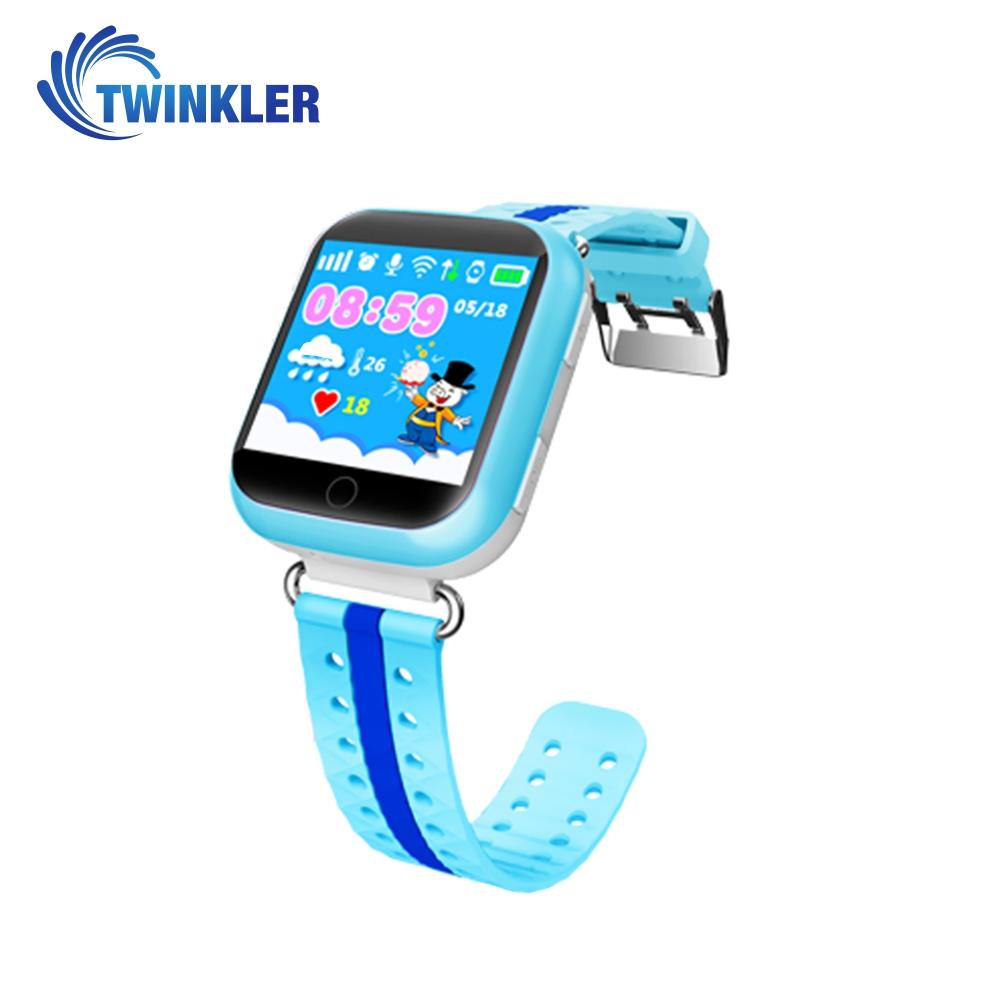 Ceas Smartwatch Pentru Copii Twinkler TKY-Q100 cu Functie Telefon, Localizare GPS, Pedometru, SOS, Detectie inlaturare ceas, Albastru imagine