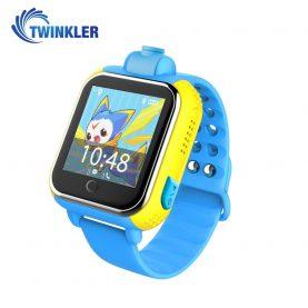 Ceas Smartwatch Pentru Copii Twinkler TKY-Q200 cu Functie Telefon, Localizare GPS, Camera, 3G, Pedometru, SOS – Albastru, Cartela SIM Cadou