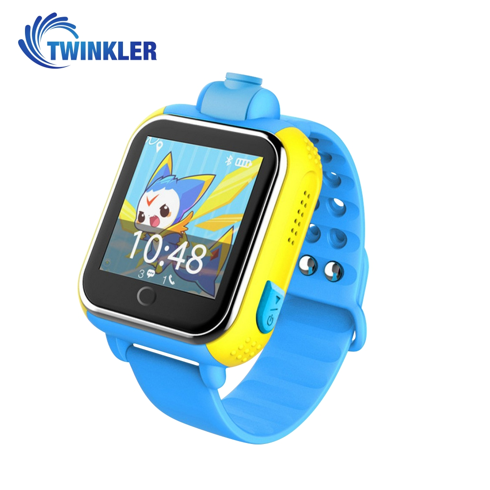 Ceas Smartwatch Pentru Copii Twinkler TKY-Q200 cu Functie Telefon, Localizare GPS, Camera, 3G, Pedometru, SOS – Albastru, Cartela SIM Cadou imagine