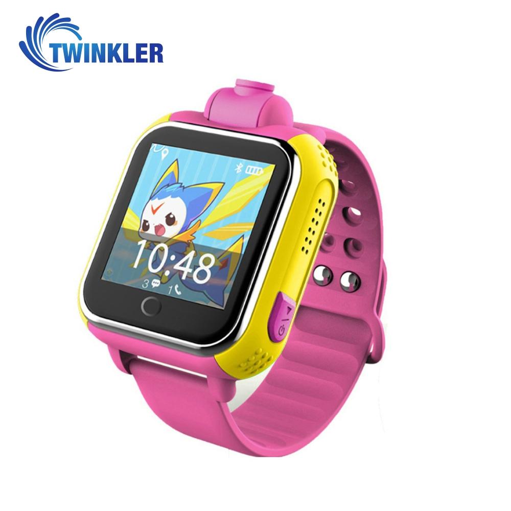 Ceas Smartwatch Pentru Copii Twinkler TKY-Q200 cu Functie Telefon, Localizare GPS, Camera, 3G, Pedometru, SOS – Roz, Cartela SIM Cadou imagine