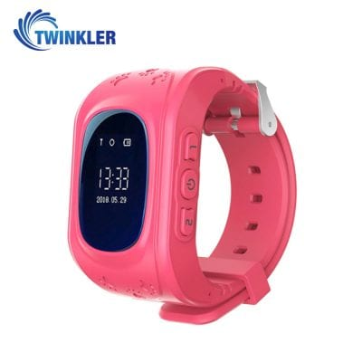 Ceas Smartwatch Pentru Copii Twinkler TKY-Q50 cu Functie Telefon, Localizare GPS, Pedometru, SOS – Roz, Cartela SIM Cadou