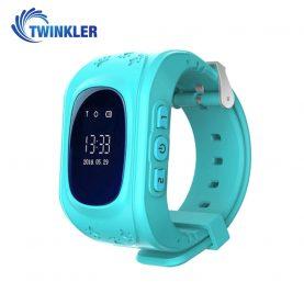 Ceas Smartwatch Pentru Copii Twinkler TKY-Q50 cu Functie Telefon, Localizare GPS, Pedometru, SOS – Turcoaz, Cartela SIM Cadou