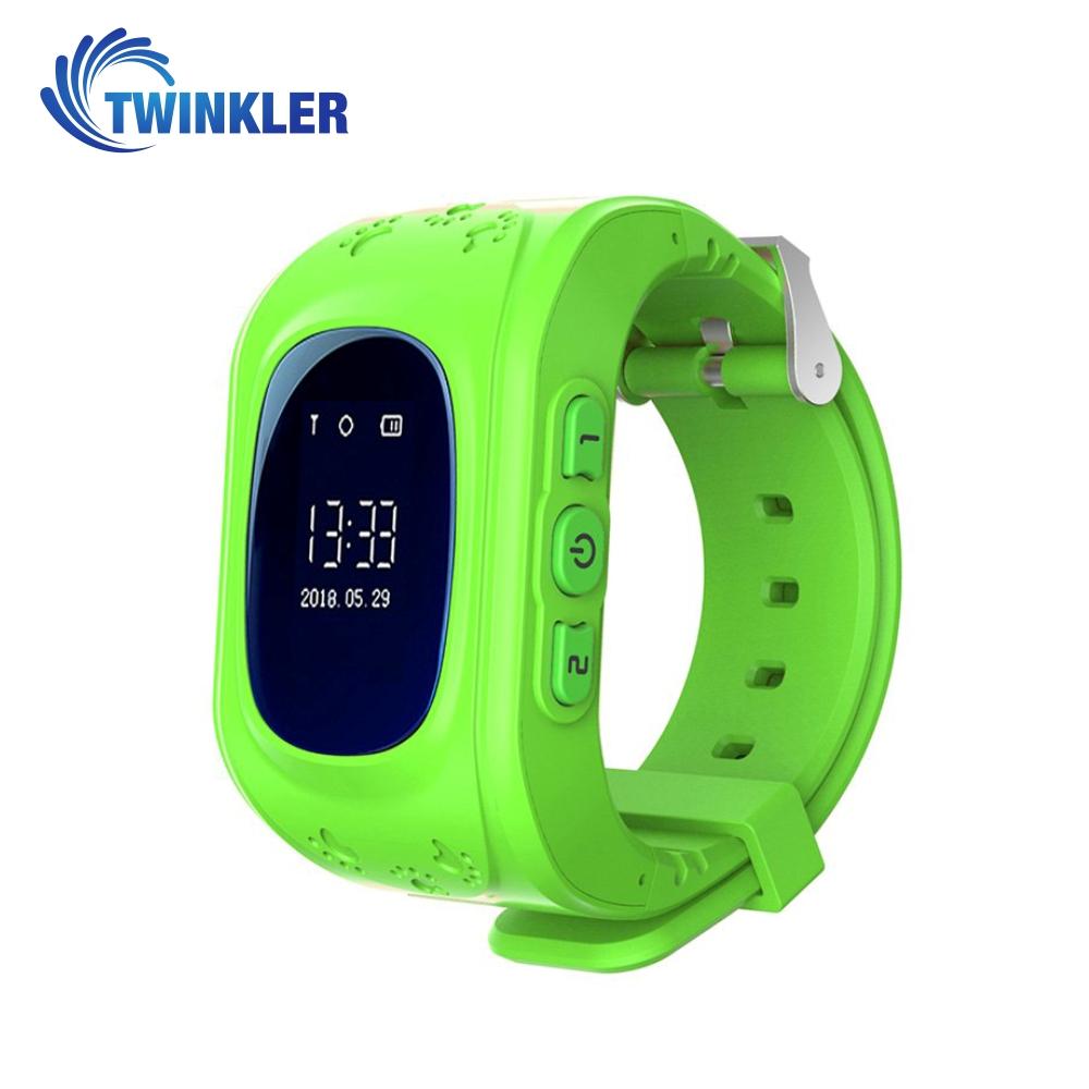 Ceas Smartwatch Pentru Copii Twinkler TKY-Q50 cu Functie Telefon, Localizare GPS, Pedometru, SOS – Verde, Cartela SIM Cadou imagine