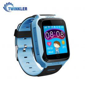 Ceas Smartwatch Pentru Copii Twinkler TKY-Q529 cu Functie Telefon, Localizare GPS, Camera, Pedometru, SOS, Lanterna, Joc Matematic – Albastru, Cartela SIM Cadou