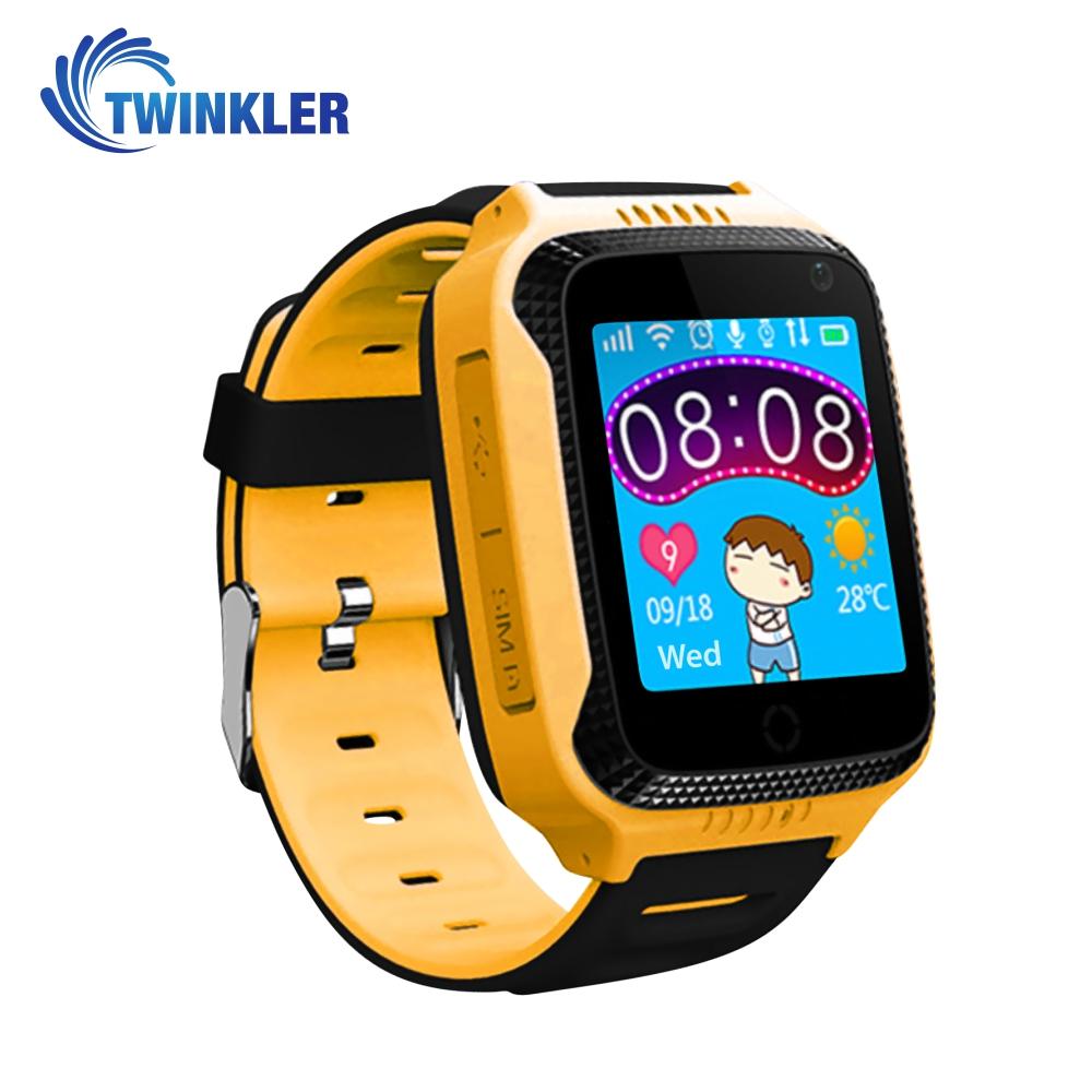 Ceas Smartwatch Pentru Copii Twinkler TKY-Q529 cu Functie Telefon, Localizare GPS, Camera, Pedometru, SOS, Lanterna, Joc Matematic – Galben, Cartela SIM Cadou imagine
