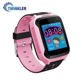 Ceas Smartwatch Pentru Copii Twinkler TKY-Q529 cu Functie Telefon, Localizare GPS, Camera, Pedometru, SOS, Lanterna, Joc Matematic – Roz, Cartela SIM Cadou