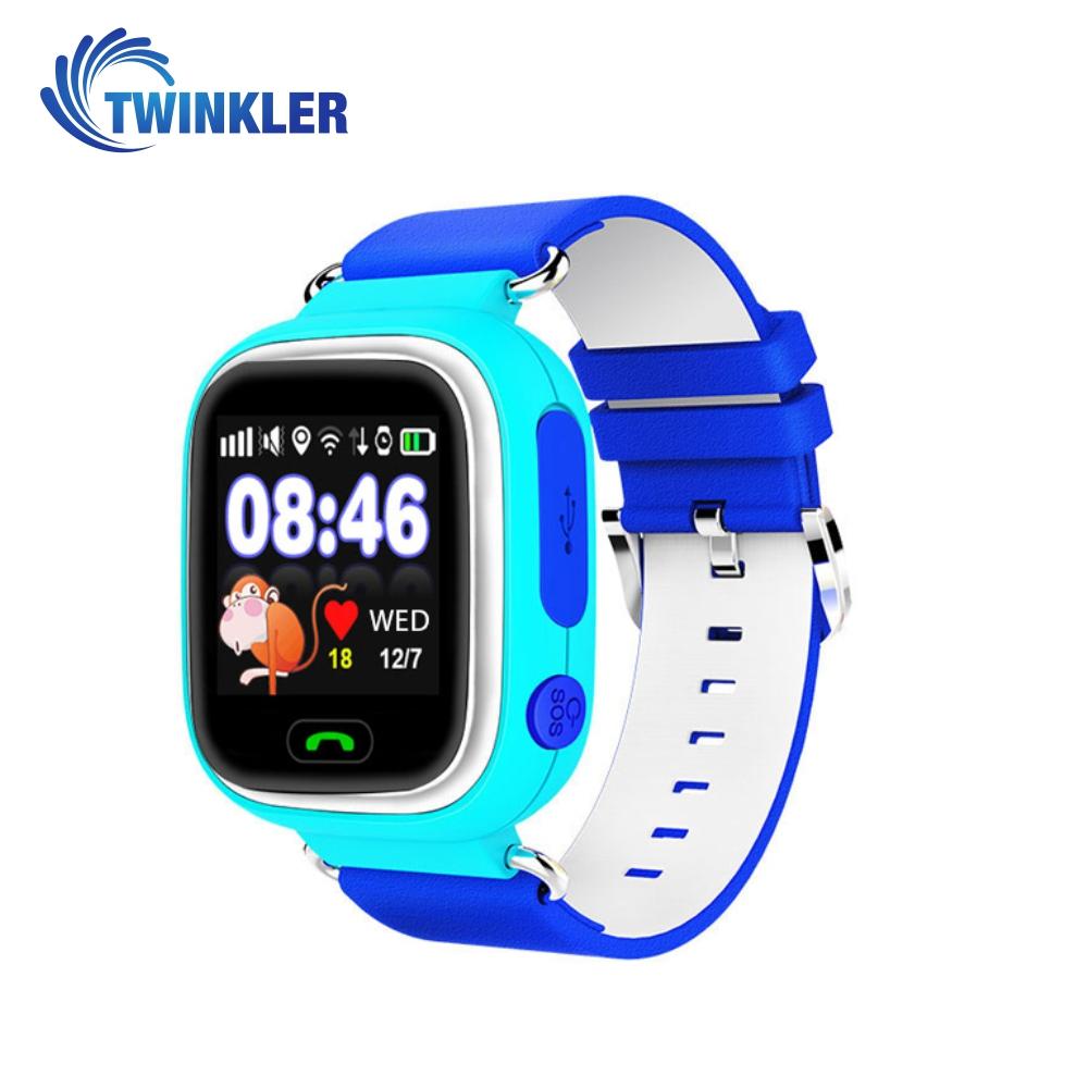 Ceas Smartwatch Pentru Copii Twinkler TKY-Q90 cu Functie Telefon, Localizare GPS, Pedometru, SOS, Joc Matematic – Bleu, Cartela SIM Cadou imagine