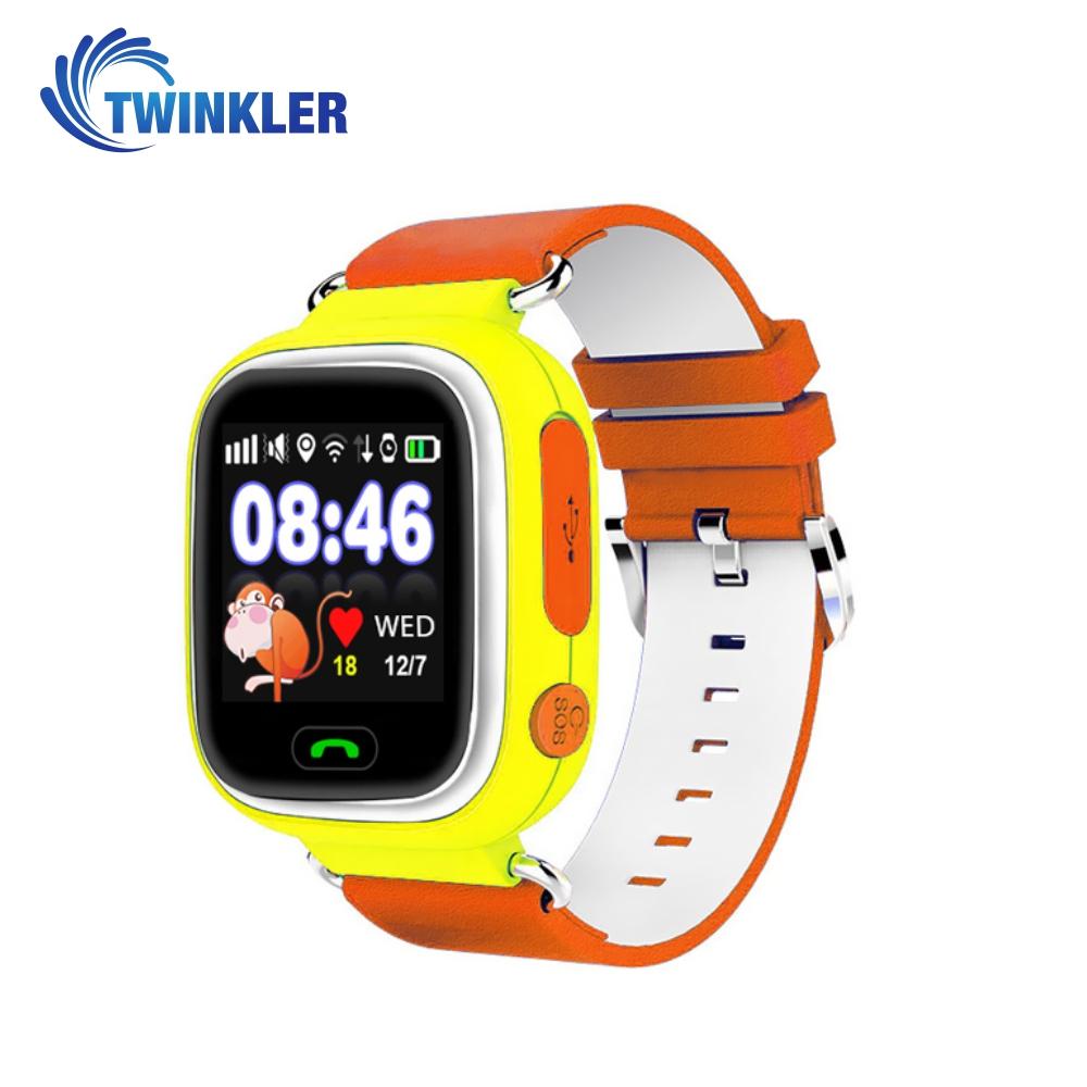 Ceas Smartwatch Pentru Copii Twinkler TKY-Q90 cu Functie Telefon, Localizare GPS, Pedometru, SOS, Joc Matematic – Galben, Cartela SIM Cadou imagine