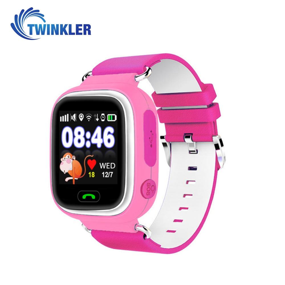 Ceas Smartwatch Pentru Copii Twinkler TKY-Q90 cu Functie Telefon, Localizare GPS, Pedometru, SOS, Joc Matematic – Roz, Cartela SIM Cadou imagine