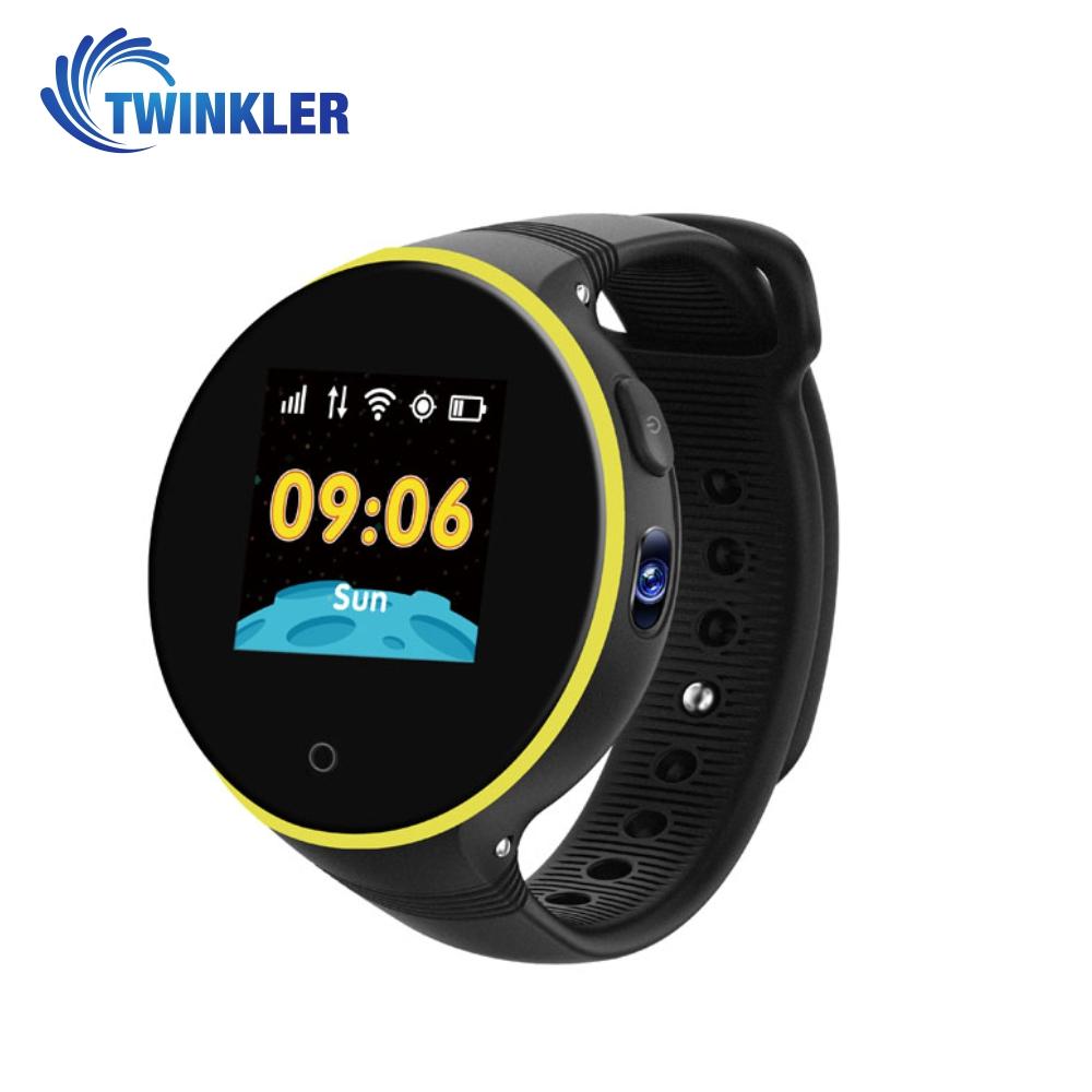 Ceas Smartwatch Pentru Copii Twinkler TKY-S669 cu Functie Telefon, Localizare GPS, Camera, Pedometru, SOS, Rezistent la apa – Negru imagine