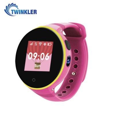 Ceas Smartwatch Pentru Copii Twinkler TKY-S669 cu Functie Telefon, Localizare GPS, Camera, Pedometru, SOS, Rezistent la apa – Roz