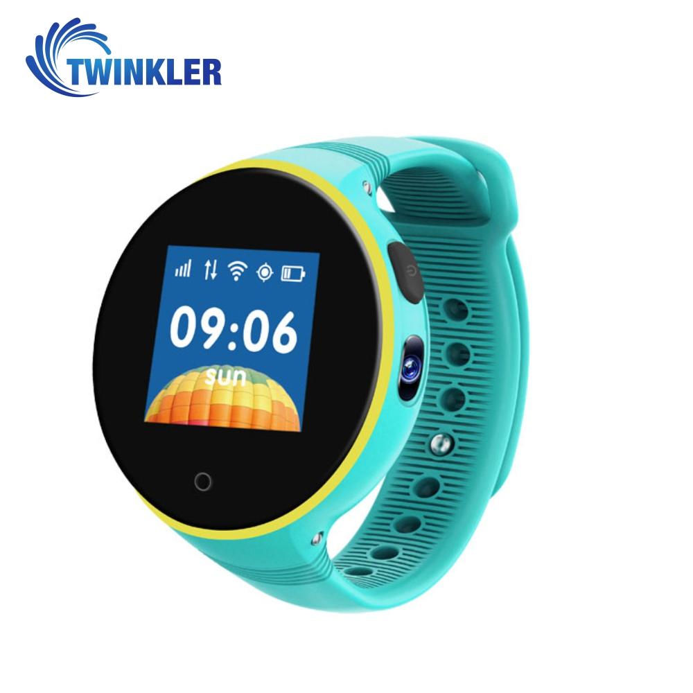 Ceas Smartwatch Pentru Copii Twinkler TKY-S669 cu Functie Telefon, Localizare GPS, Camera, Pedometru, SOS, Rezistent la apa – Turcoaz imagine