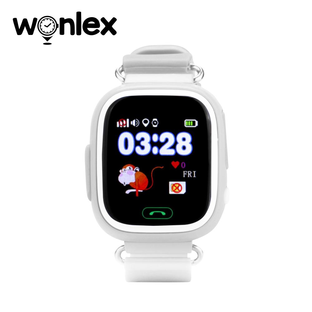 Ceas Smartwatch Pentru Copii Wonlex GW100 cu Functie Telefon, Localizare GPS, Pedometru, SOS – Alb, Cartela SIM Cadou imagine
