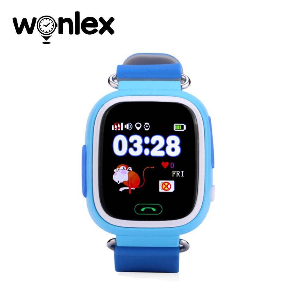 Ceas Smartwatch Pentru Copii Wonlex GW100 cu Functie Telefon, Localizare GPS, Pedometru, SOS – Bleu, Cartela SIM Cadou imagine
