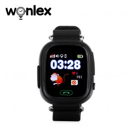 Ceas Smartwatch Pentru Copii Wonlex GW100 cu Functie Telefon, Localizare GPS, Pedometru, SOS – Negru, Cartela SIM Cadou