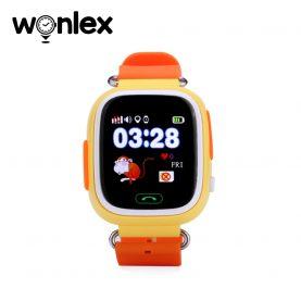 Ceas Smartwatch Pentru Copii Wonlex GW100 cu Functie Telefon, Localizare GPS, Pedometru, SOS – Portocaliu, Cartela SIM Cadou