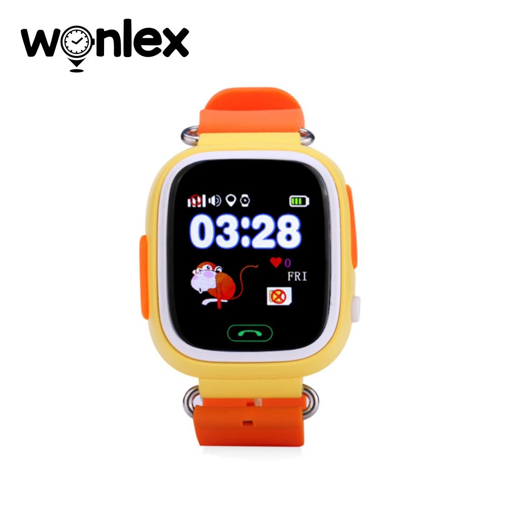 Ceas Smartwatch Pentru Copii Wonlex GW100 cu Functie Telefon, Localizare GPS, Pedometru, SOS – Portocaliu, Cartela SIM Cadou imagine
