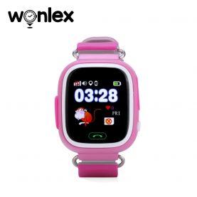 Ceas Smartwatch Pentru Copii Wonlex GW100 cu Functie Telefon, Localizare GPS, Pedometru, SOS – Roz, Cartela SIM Cadou