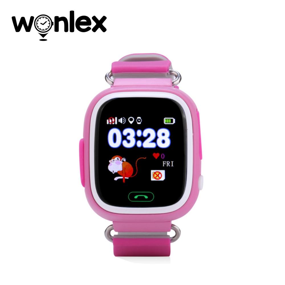 Ceas Smartwatch Pentru Copii Wonlex GW100 cu Functie Telefon, Localizare GPS, Pedometru, SOS – Roz, Cartela SIM Cadou imagine