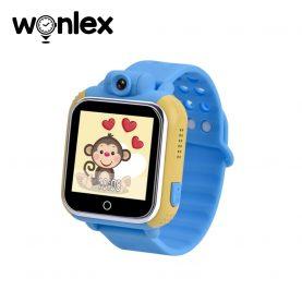 Ceas Smartwatch Pentru Copii Wonlex GW1000 cu Functie Telefon, Localizare GPS, Camera, 3G, Pedometru, SOS, Android – Albastru, Cartela SIM Cadou