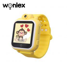 Ceas Smartwatch Pentru Copii Wonlex GW1000 cu Functie Telefon, Localizare GPS, Camera, 3G, Pedometru, SOS, Android – Galben, Cartela SIM Cadou