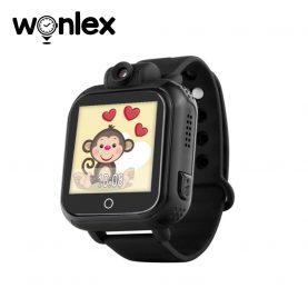 Ceas Smartwatch Pentru Copii Wonlex GW1000 cu Functie Telefon, Localizare GPS, Camera, 3G, Pedometru, SOS, Android – Negru, Cartela SIM Cadou