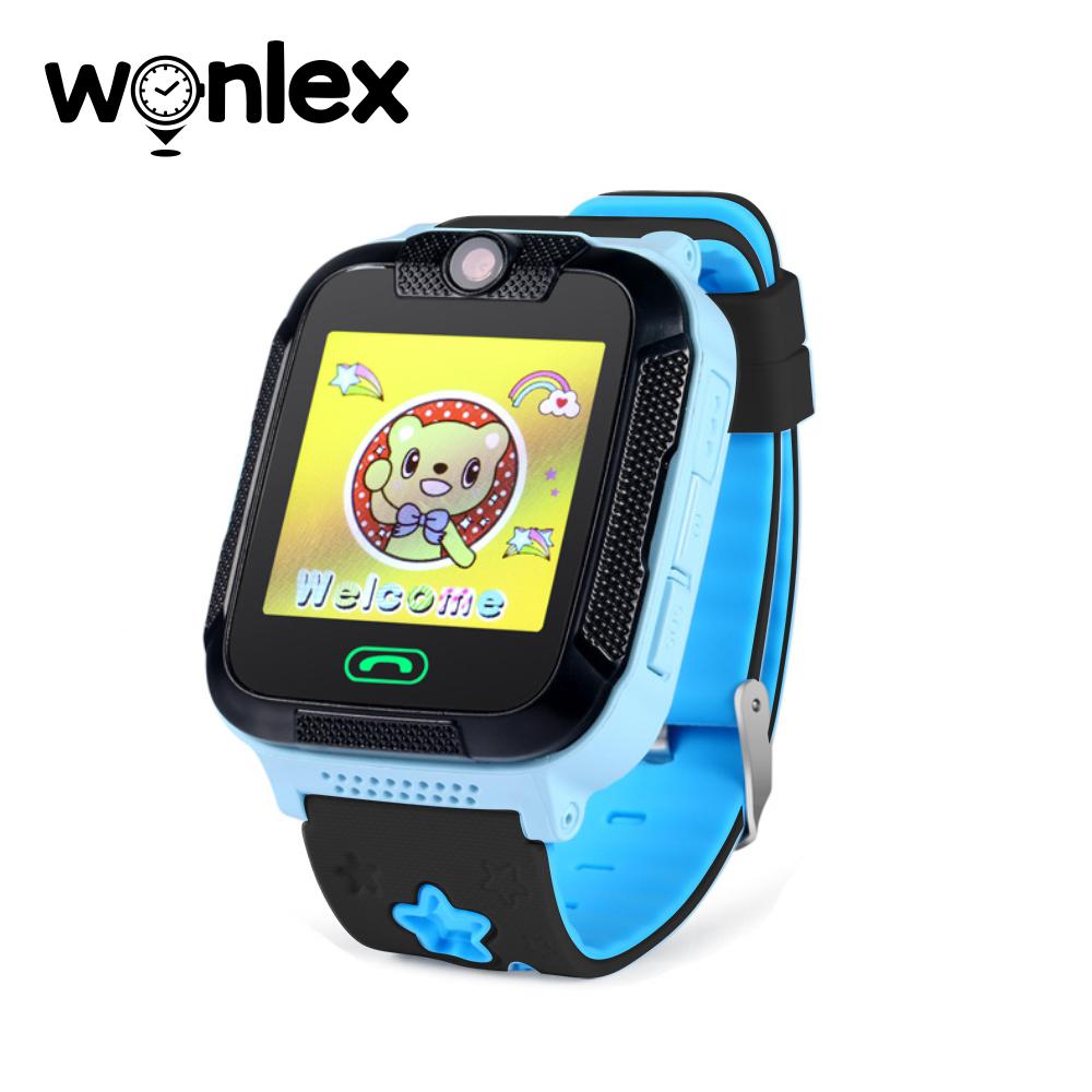 Ceas Smartwatch Pentru Copii Wonlex GW2000 cu Functie Telefon, Localizare GPS, Camera, 3G, Pedometru, SOS, Android – Albastru, Cartela SIM Cadou imagine