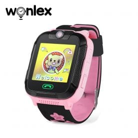 Ceas Smartwatch Pentru Copii Wonlex GW2000 cu Functie Telefon, Localizare GPS, Camera, 3G, Pedometru, SOS, Android – Roz, Cartela SIM Cadou