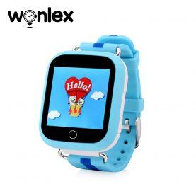 Ceas Smartwatch Pentru Copii Wonlex GW200S cu Functie Telefon, Localizare GPS, Pedometru, SOS – Albastru