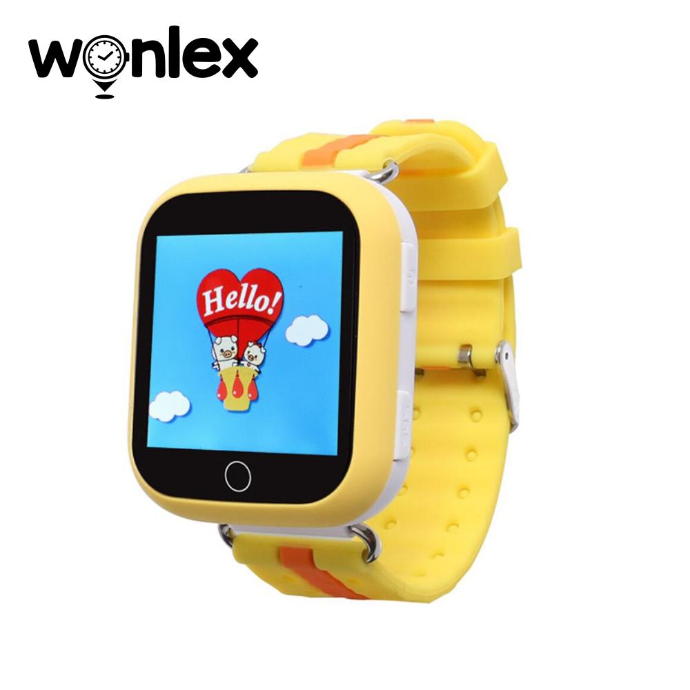 Ceas Smartwatch Pentru Copii Wonlex GW200S cu Functie Telefon, Localizare GPS, Pedometru, SOS – Galben imagine