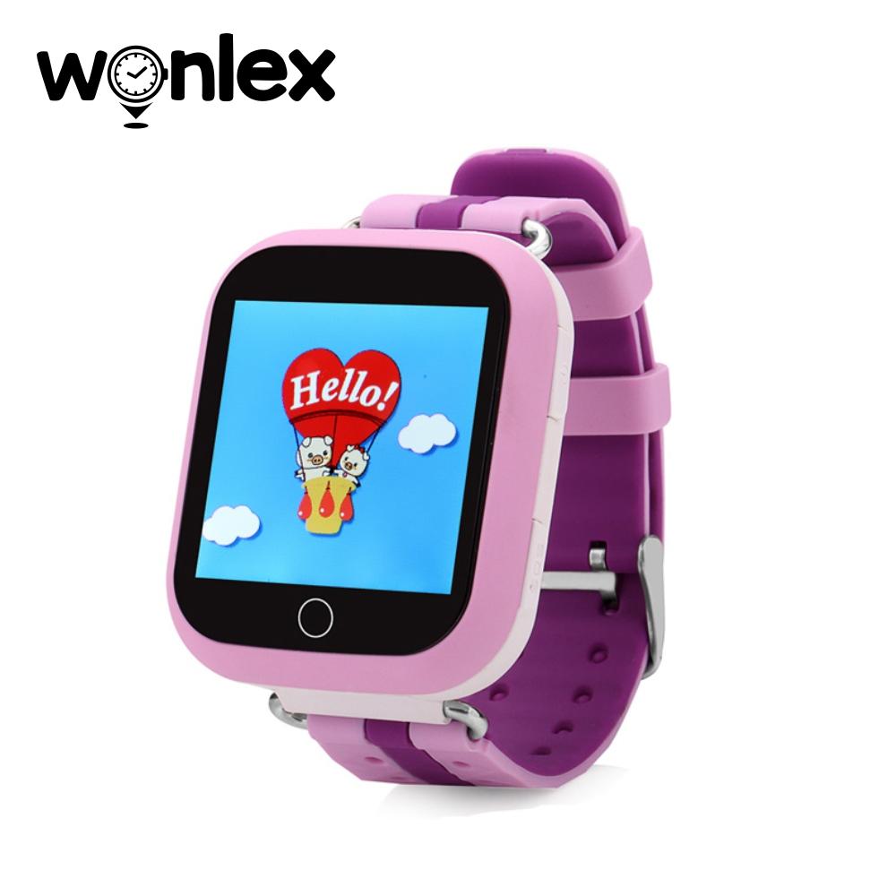 Ceas Smartwatch Pentru Copii Wonlex GW200S cu Functie Telefon, Localizare GPS, Pedometru, SOS – Mov imagine