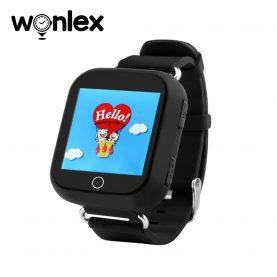 Ceas Smartwatch Pentru Copii Wonlex GW200S cu Functie Telefon, Localizare GPS, Pedometru, SOS – Negru