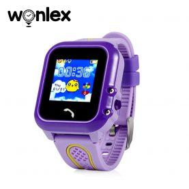 Ceas Smartwatch Pentru Copii Wonlex GW400E cu Functie Telefon, Localizare GPS, Pedometru, SOS, IP54 – Mov, Cartela SIM Cadou