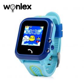 Ceas Smartwatch Pentru Copii Wonlex GW400E cu Functie Telefon, Localizare GPS, Pedometru, SOS, IP54 – Albastru, Cartela SIM Cadou