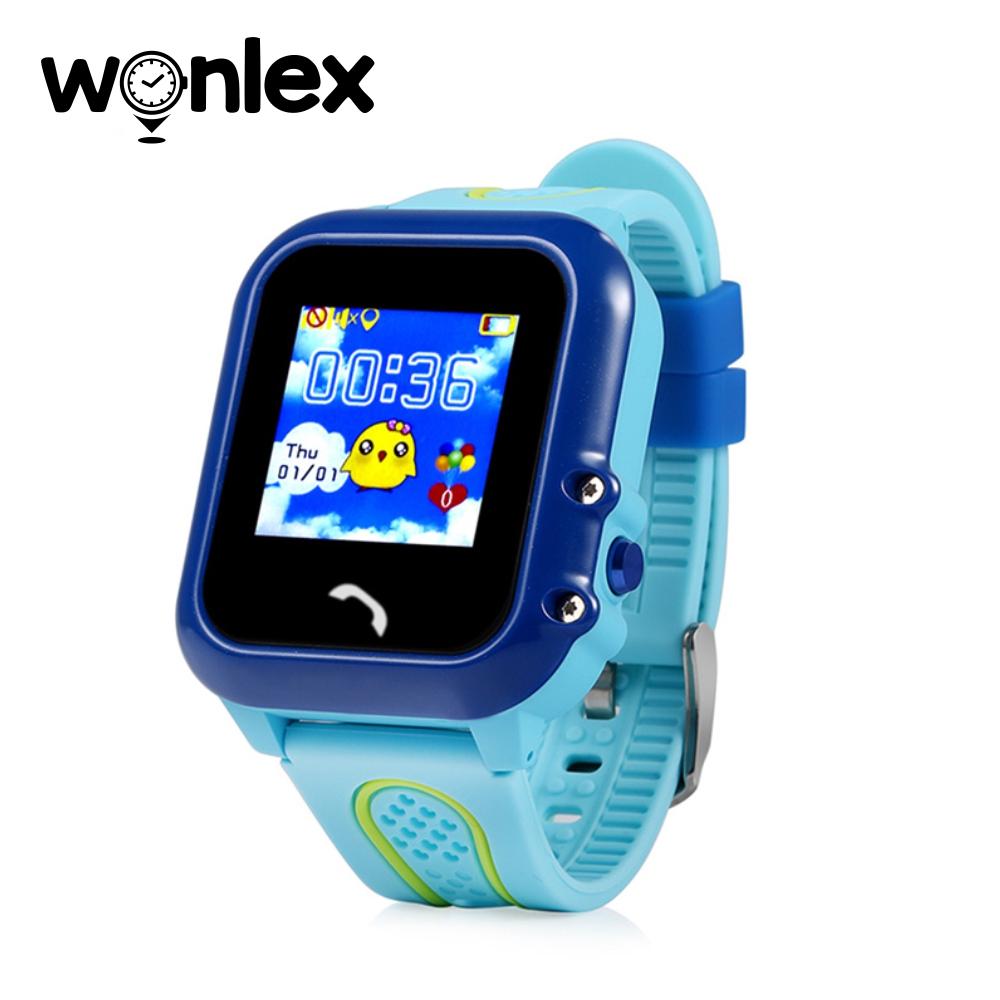 Ceas Smartwatch Pentru Copii Wonlex GW400E cu Functie Telefon, Localizare GPS, Pedometru, SOS, IP54 – Albastru, Cartela SIM Cadou imagine