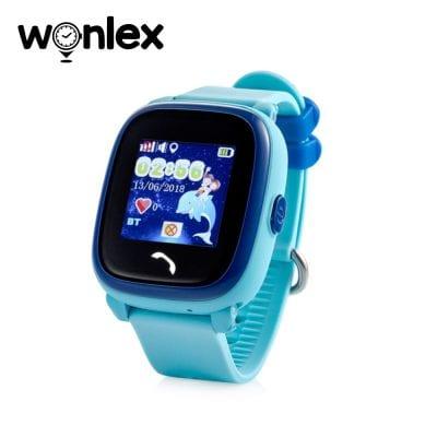 Ceas Smartwatch Pentru Copii Wonlex GW400S WiFi cu Functie Telefon, Localizare GPS, Pedometru, SOS, IP54 – Bleu, Cartela SIM Cadou