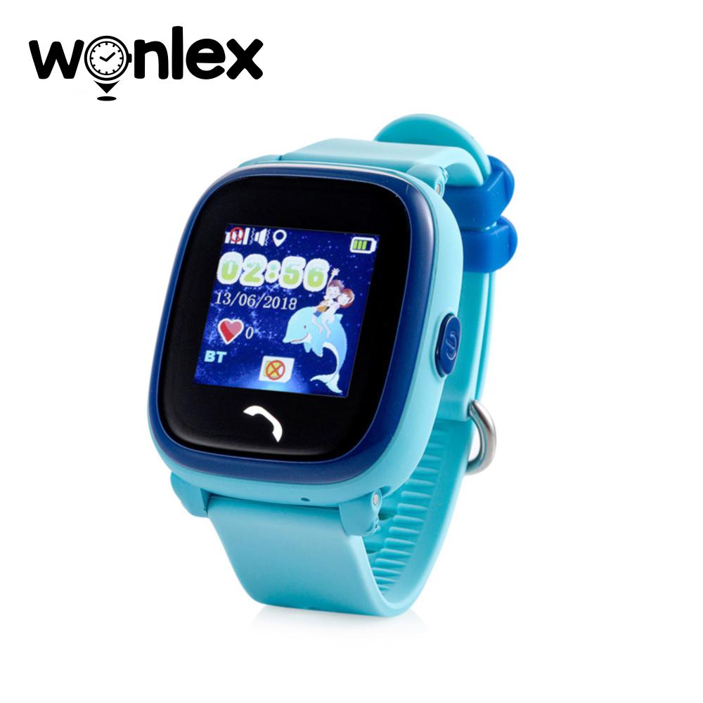 Ceas Smartwatch Pentru Copii Wonlex GW400S cu Functie Telefon, Localizare GPS, Pedometru, SOS, IP54 – Bleu, Cartela SIM Cadou imagine