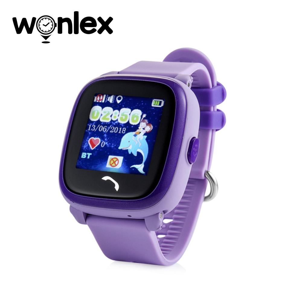 Ceas Smartwatch Pentru Copii Wonlex GW400S cu Functie Telefon, Localizare GPS, Pedometru, SOS, IP54 – Mov, Cartela SIM Cadou imagine