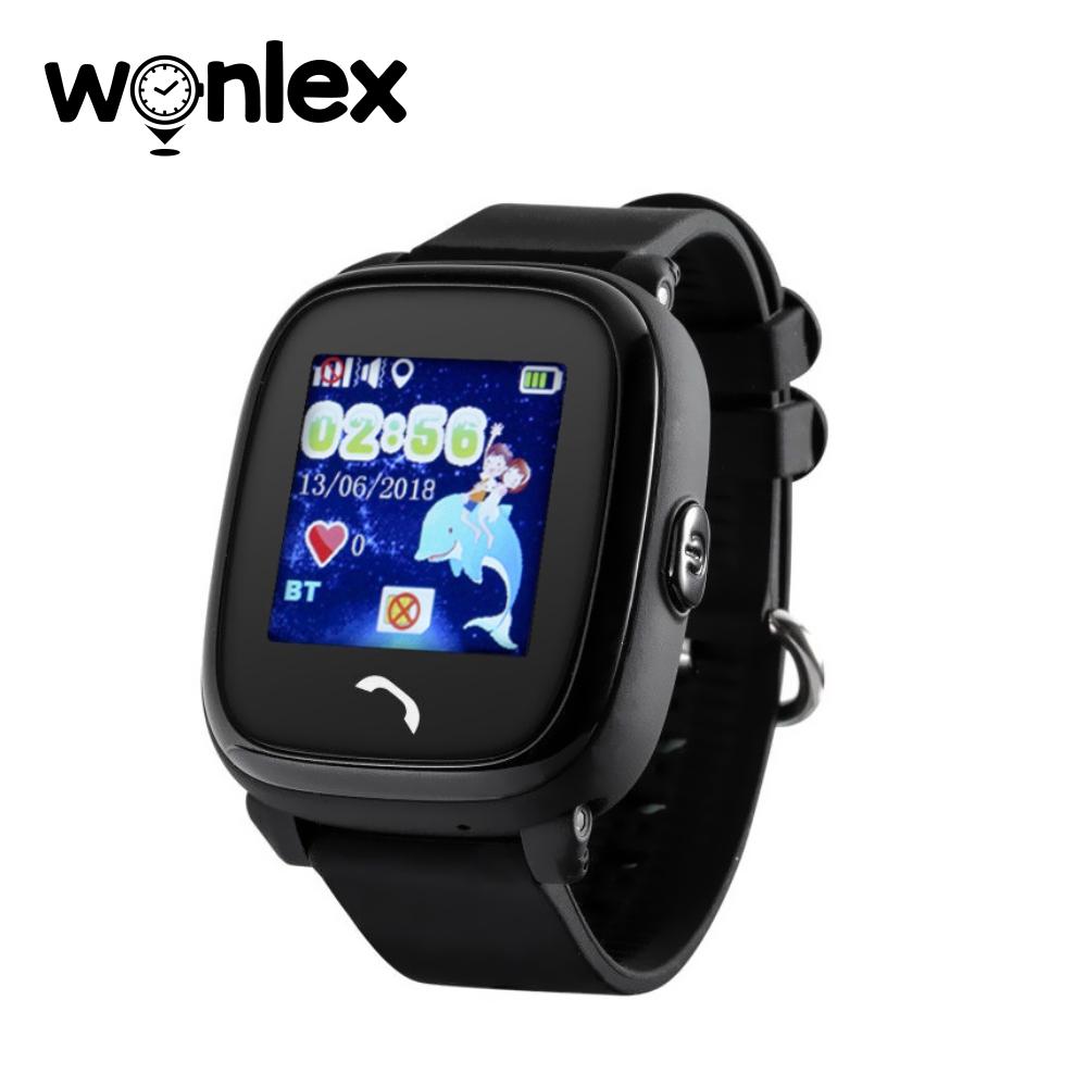 Ceas Smartwatch Pentru Copii Wonlex GW400S WiFi cu Functie Telefon, Localizare GPS, Pedometru, SOS, IP54 – Negru, Cartela SIM Cadou imagine