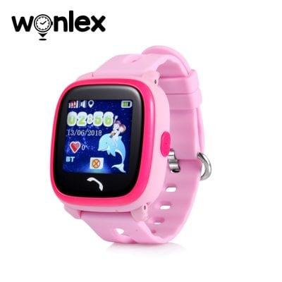 Ceas Smartwatch Pentru Copii Wonlex GW400S WiFi cu Functie Telefon, Localizare GPS, Pedometru, SOS, IP54 – Roz, Cartela SIM Cadou