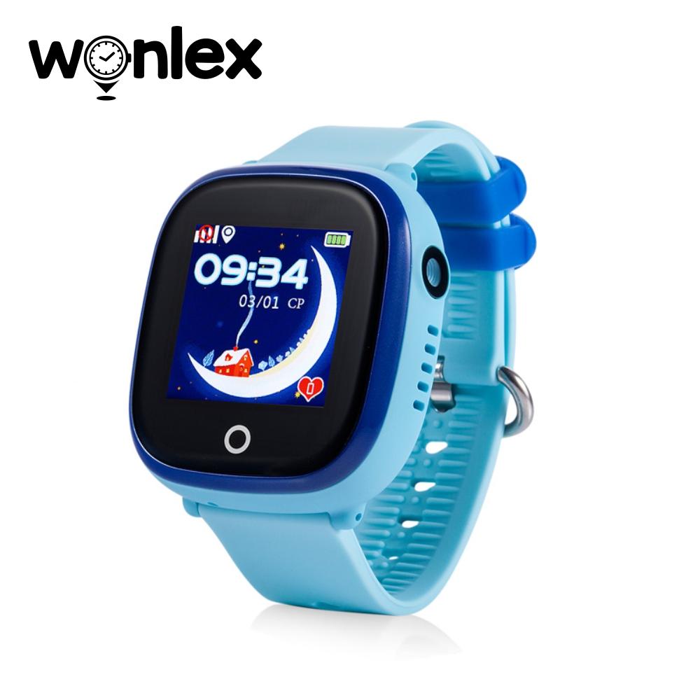 Ceas Smartwatch Pentru Copii Wonlex GW400X WiFi cu Functie Telefon, Localizare GPS, Camera, Pedometru, SOS, IP54 – Bleu, Cartela SIM Cadou imagine