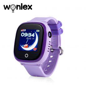 Ceas Smartwatch Pentru Copii Wonlex GW400X WiFi cu Functie Telefon, Localizare GPS, Camera, Pedometru, SOS, IP54 – Mov, Cartela SIM Cadou