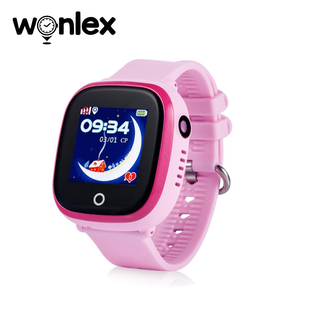Ceas Smartwatch Pentru Copii Wonlex GW400X cu Functie Telefon, Localizare GPS, Camera, Pedometru, SOS, IP54 – Roz, Cartela SIM Cadou imagine